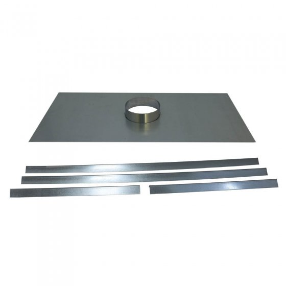 Register Plate With 133mm Diameter Collar - 450mm x 900mm - With Support Angles