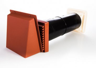 Lookryt Aircore Baffled Vent With Cowl - 125mm Diameter