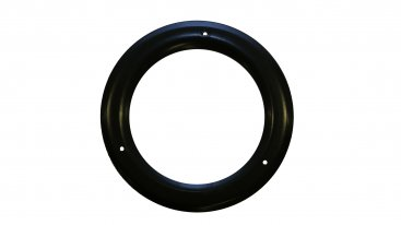 Matt Black Vitreous Enamel 200mm Diameter Trim Ring - 90 Degree