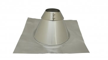 Angled Roof Flashing - 5 To 45 Degree - 130mm Diameter - Aluminium