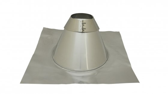 Angled Roof Flashing - 5 To 45 Degree - 250mm Diameter - Aluminium