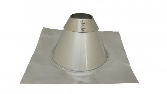 Angled Roof Flashing - 5 To 45 Degree - 150mm Diameter - Aluminium