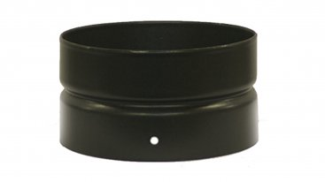 Matt Black Vitreous Enamel 125mm Diameter Double Socket