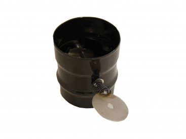 Gloss Black Vitreous Enamel 100mm Diameter Damper Pipe