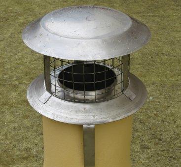 125mm Pot Hanger Cowl (staineless steel) For Multi Fuel Flexible Liner