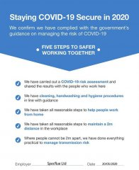 COVID 19 Working Policy & Risk Assessment