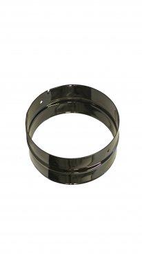 Gloss Black Vitreous Enamel 150mm Diameter Double Spigot
