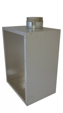 Recessed Rite Vent Flue Box Adaptor With 125mm B-Vent Spigot