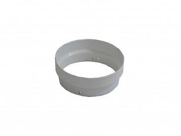 White Vitreous Enamel 150mm Diameter Cut Length Adaptor