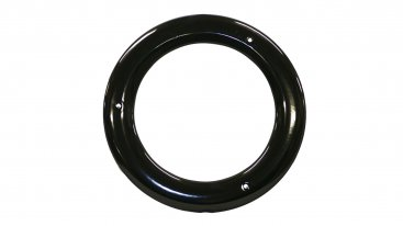Gloss Black Vitreous Enamel 100mm Diameter Ceiling Trim Ring