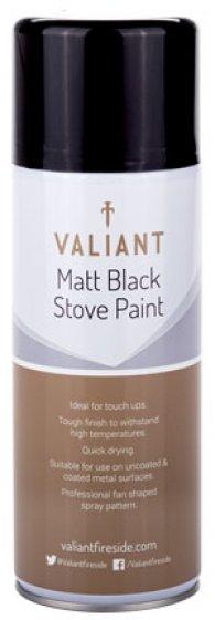 Matt Black Stove Paint Spray 400ml (FIRE170)