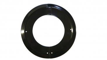 Gloss Black Vitreous Enamel 150mm Diameter Split Ceiling Trim Ring