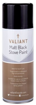 Matt Black Stove Paint Spray 400ml (FIRE170)