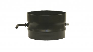 Matt Black Vitreous Enamel 125mm Diameter Damper Pipe