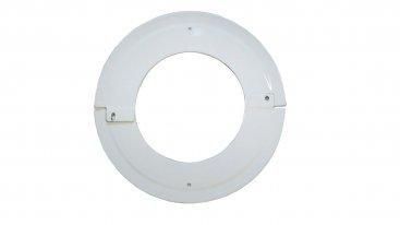White Vitreous Enamel 150mm Diameter Split Ceiling Trim Ring