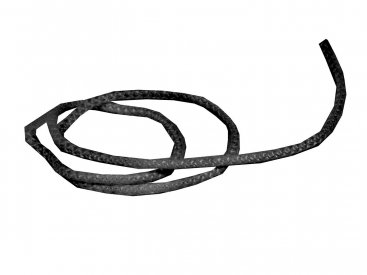 Flat Glass Fibre Rope - 12mm Wide - 3mm Thick - Per Metre (Black)