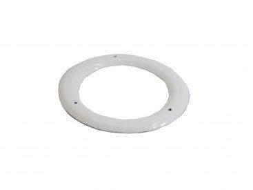 White Vitreous Enamel 150mm Diameter Ceiling Trim Ring