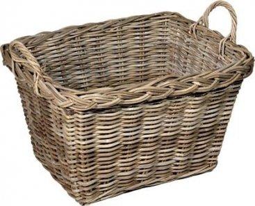 Therfield Log Basket Grey (Rectangular)