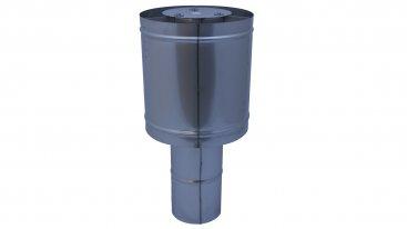 Steel Top Terminal - 125mm Diameter - 316 Stainless Steel (suitable for multi fuel)