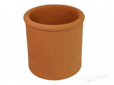 Chimney Pot - Terracotta - Beaded Round Parallel - 300mm Internal Diameter - 300mm Tall