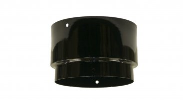 Gloss Black Vitreous Enamel 100mm Diameter Economy Adaptor To Flexible Liner