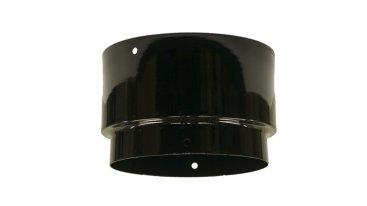 Gloss Black Vitreous Enamel 150mm Diameter Economy Adaptor To Flexible Liner