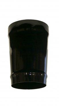 Gloss Black Vitreous Enamel 150mm Diameter Tapered Increaser To 175mm Diameter Vitreous Enamel