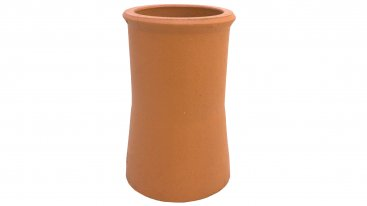 Chimney Pot - Terracotta - Roll Top Tapered - 200mm Internal Diameter - 300mm Tall