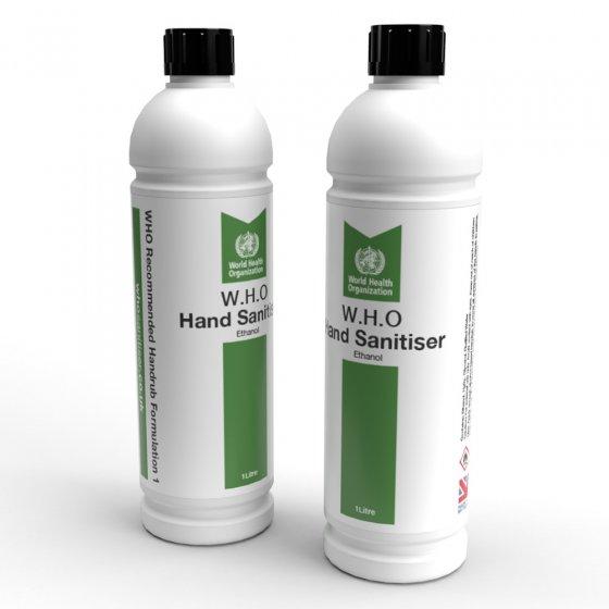 Hand Sanitiser 1 Litre Bottle (W.H.O Ethanol Blend)