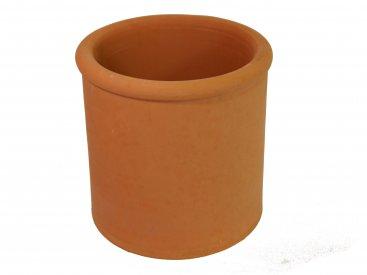 Chimney Pot - Terracotta - Beaded Round Parallel - 250mm Internal Diameter - 300mm Tall