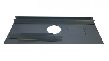 Register Plate - 125mm To 150mm Diameter - 813mm x 380mm With Inspection Door And Support Angles