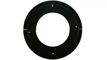 Matt Black Vitreous Enamel 125mm Diameter Split Trim Ring - 90 Degree