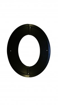 Matt Black Vitreous Enamel 200mm Diameter Angled Trim Ring - 45 Degree