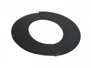 Gloss Black Vitreous Enamel 100mm Diameter 45 Degree Angled Ceiling Trim Ring