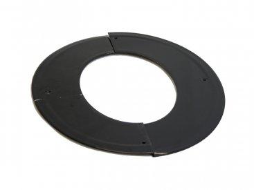 Gloss Black Vitreous Enamel 150mm Diameter 45  Degree Angled Ceiling Trim Ring
