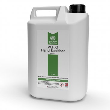 Hand Sanitiser 5 Litre Container (W.H.O Ethanol Blend)