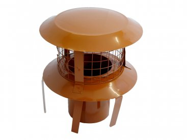 125mm Pot Hanger Cowl (terracotta) For Multi Fuel Flexible Liner