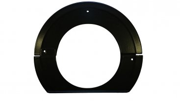 125mm Internal Diameter Matt Black Vitreous Enamel Flush Trim Ring