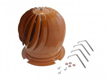 Spinning Cowl Terracotta - Fits 125mm To 250mm Diameters (suitable for multi fuel)