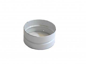 White Vitreous Enamel 125mm Diameter Double Socket